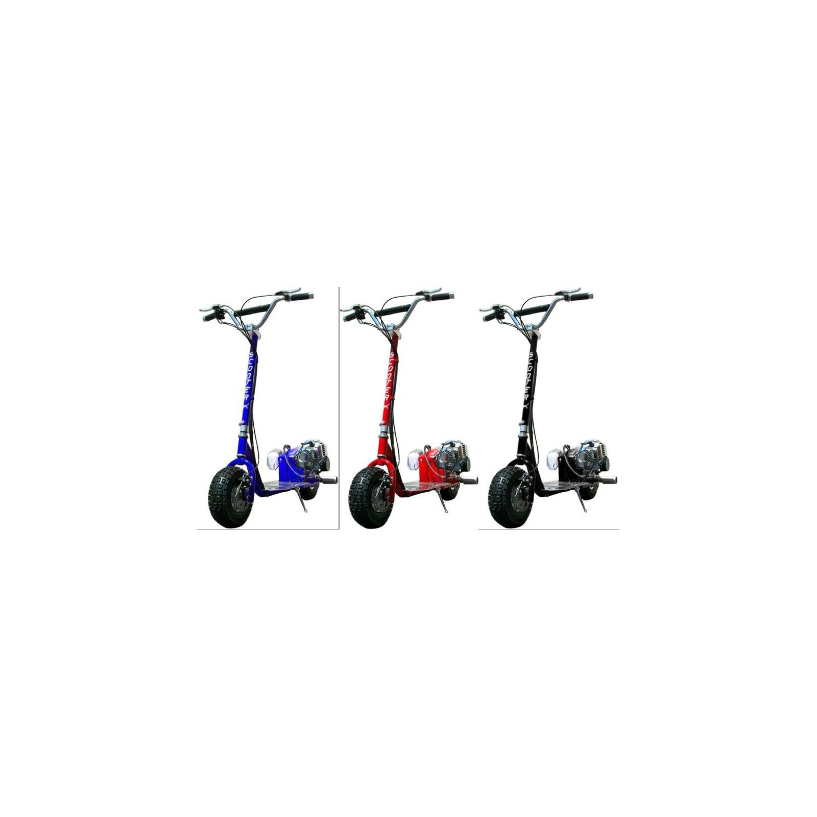 scooterx dirt dog 49cc gas powered scooter with speeds up to 30mph