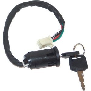 Ignition key switch 4 Wire for gas and electric scooters