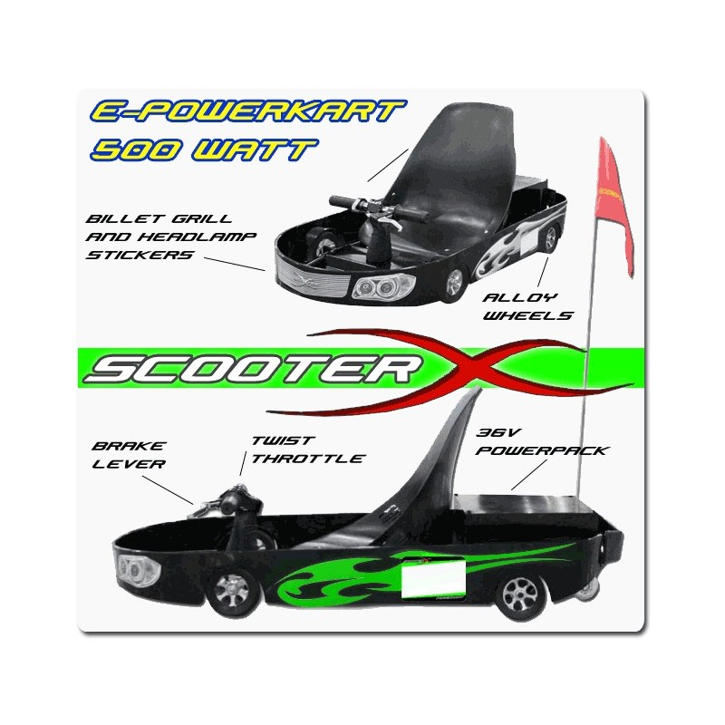 500watt e powerkart electric go kart scooterx e powerkart 500 watt 36 volt electric go kart go kart diagram at alyssarenee.co