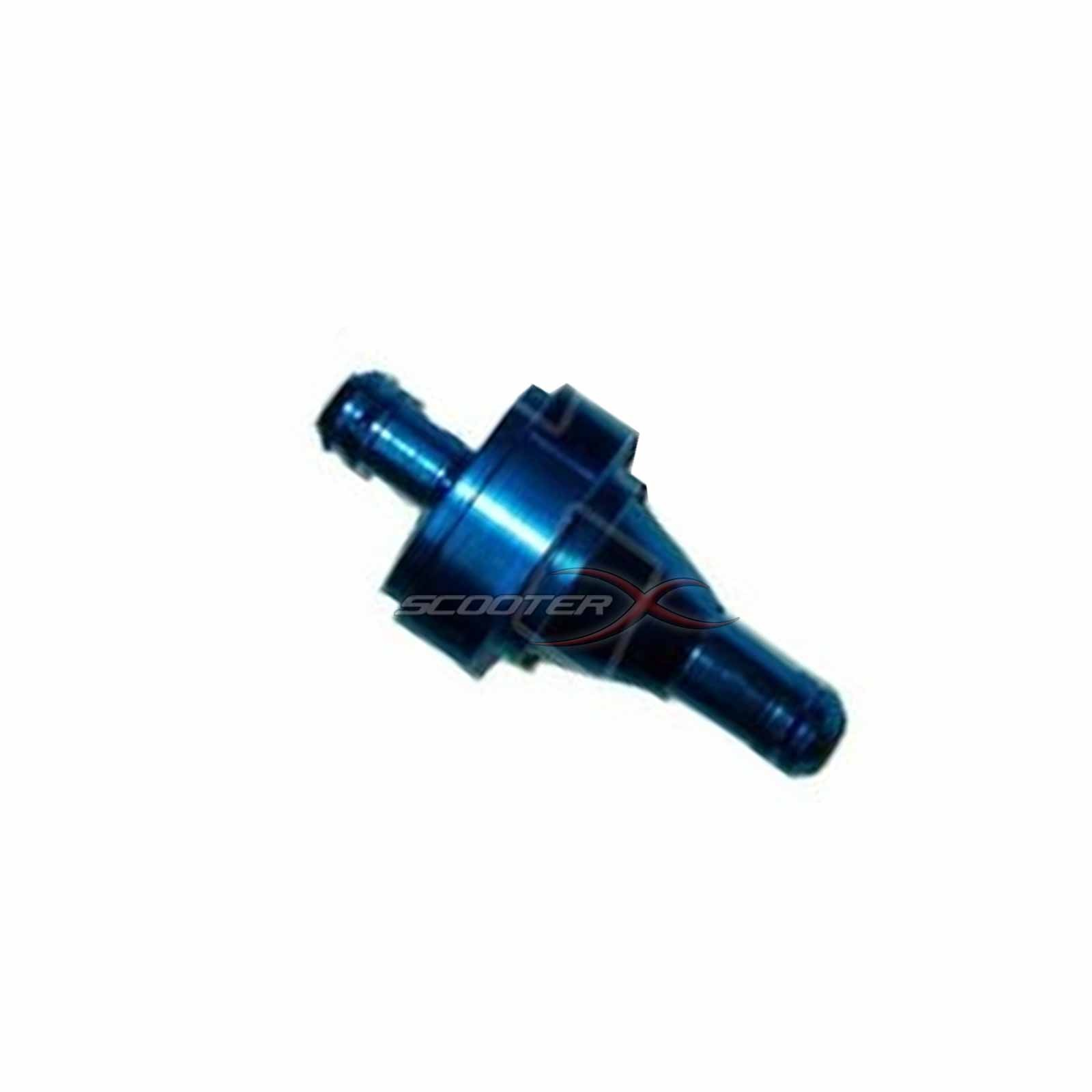 Universal In Line Aluminum Fuel Filter For Scooters Motorcycles Atv Filters 1 4 Flanges Blue