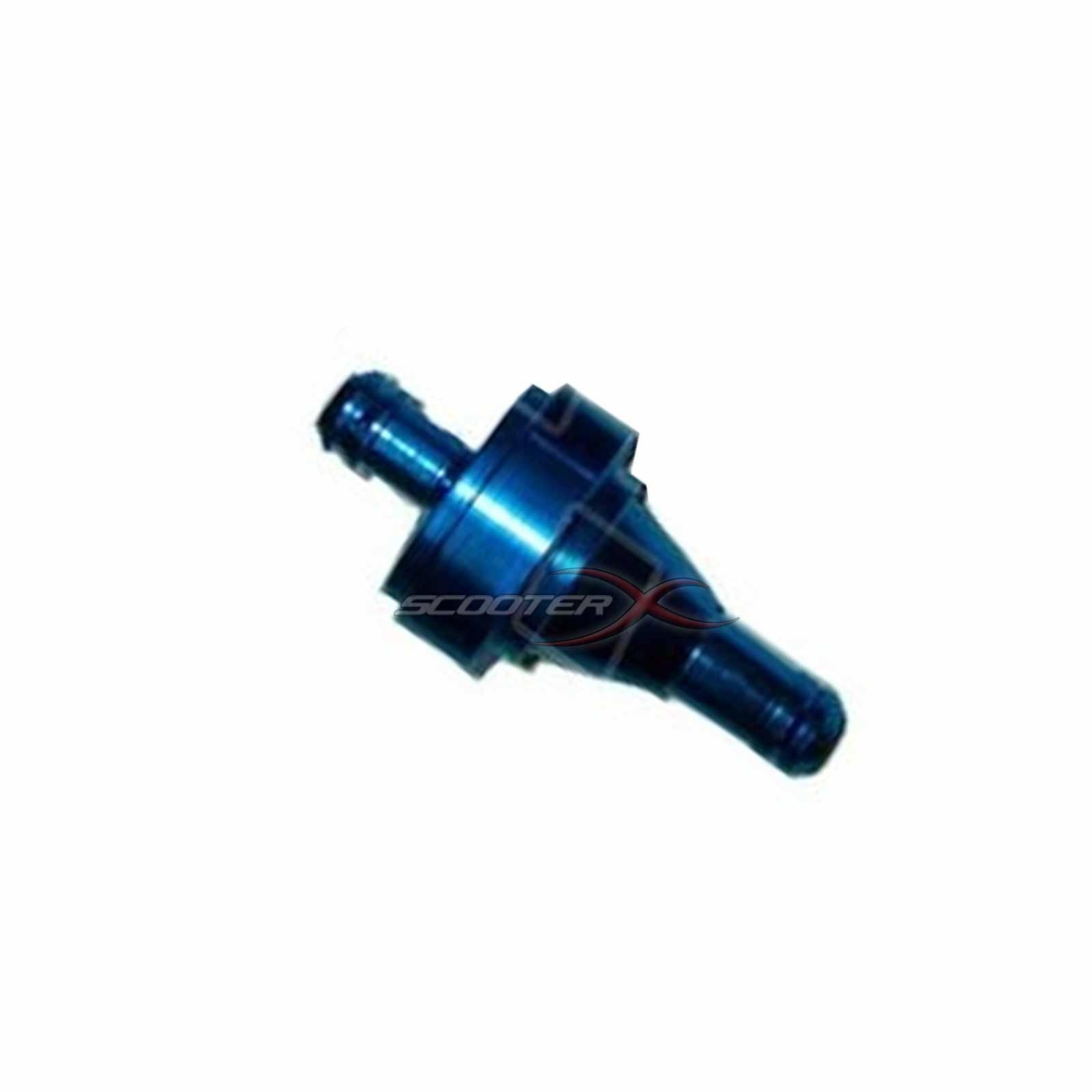 "... Fuel Filter Aluminum 1/4"" Flanges blue"