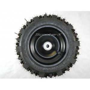 Front Tire 8x4.00-5 Tire/Rim/Bearing Combo