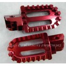 Billet Oversized Foot Pegs - Red