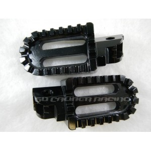 Billet Oversized Foot Pegs - Black