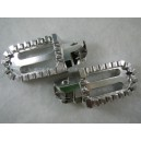 Billet Oversized Foot Pegs - Silver