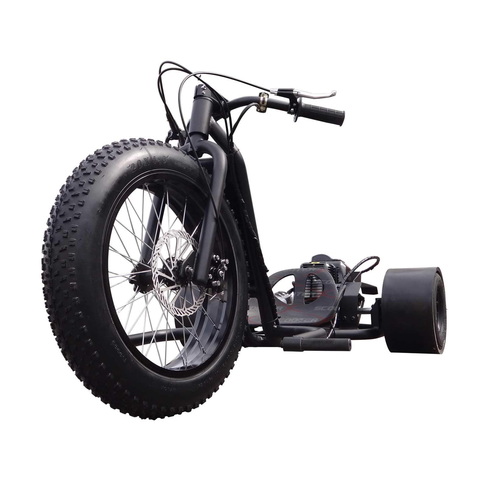 49cc Gas Powered Scooterx Driftmaster Drift Trike Big Wheel 3 Wheeler Ground Force Electric Go Kart Parts Diagram Master Matte Black