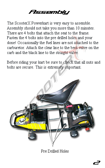 Epowerkart manual page 2