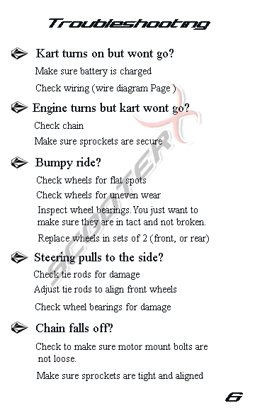 Epowerkart manual page 6