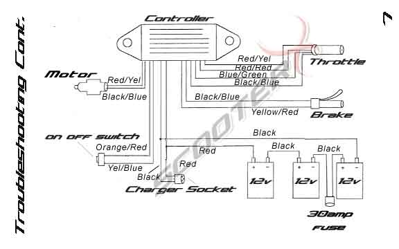 wire diagram electric powerkart instruction manual scooterx wholesale go kart Harley Sportster Wiring Diagram at gsmx.co