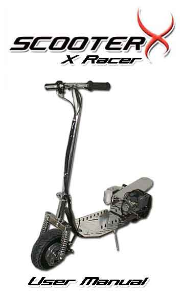 ScooterX X-Racer Instruction Manual Cover Page